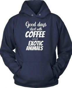 Coffe And Exotic Animals Hoodie EL01