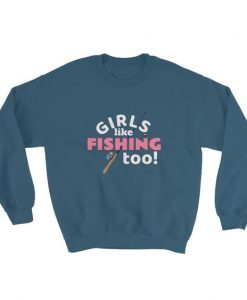 Fishing Girl Sweatshirt AD01