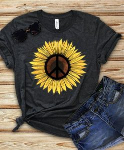Hippie Sunflower Tshirt EC01