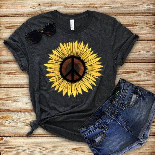 Hippie Sunflower Tshirt EC01