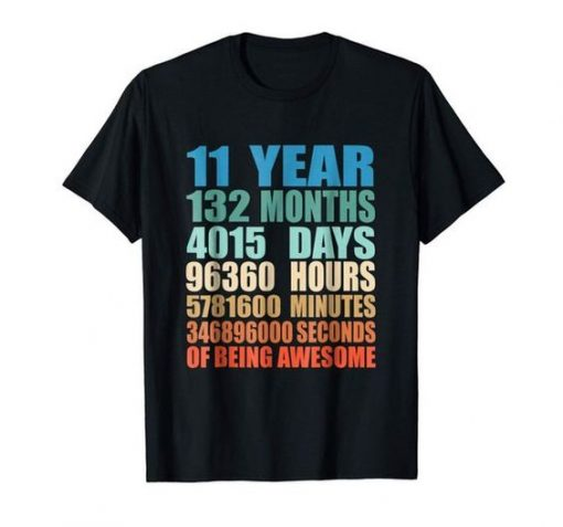 11 Year Old Birthday T-shirt ZK01