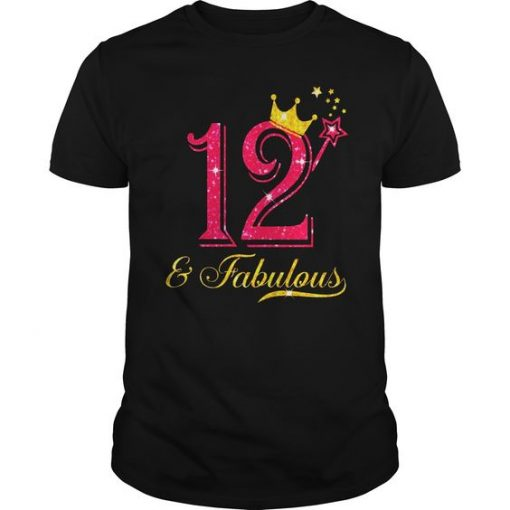 12th Birthday Girl T-shirt ZK01