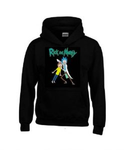 RICK and MORTY Black Hoodie FD01