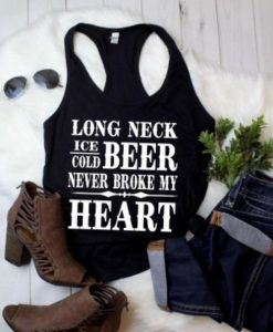 Beer never broke my heart Tank Top DV01