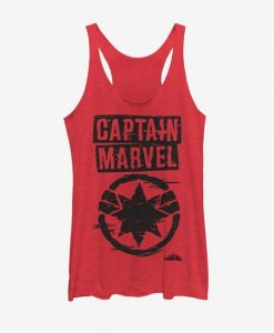 Captain Marvel Painted Logo Tank Top FD01
