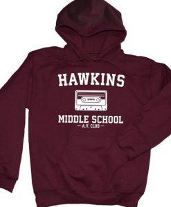 Hawkins Middle School Hoodie EL01