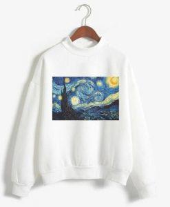 Van Gogh Print Sweatshirt ZK01
