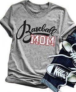 Women Baseball Mom Letter Print T Shirt FD01