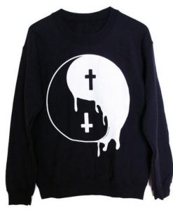 Yin Yang Cross Sweatshirt ZK01