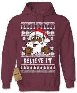 Black Santa Clause Hoodie AI01