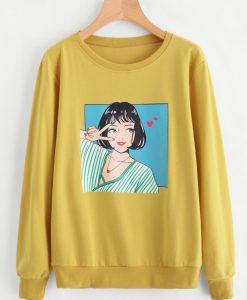 Girl Yellow Sweatshirt EL29