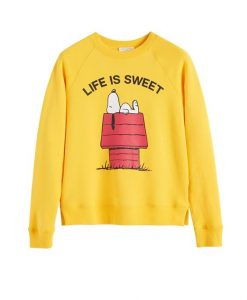 Yellow Snoopy Life is Sweet Sweatshirt EL29