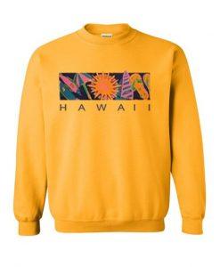 hawaii yellow sweatshirt EL29