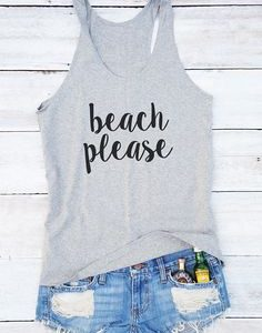 Beach Please Tanktop EL21J0