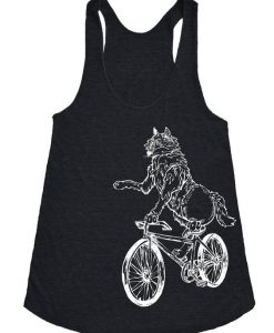 Wolf On a Bicycle Tanktop FD20J0