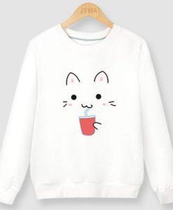 Cat Drink Sweatshirt EL6F0
