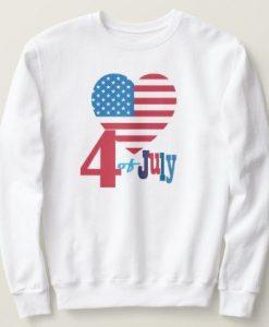 USA Flag Heart Sweatshirt EL6F0