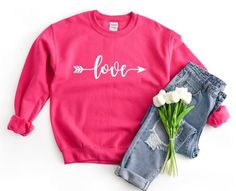 Womens Loves Sweatshirt EL5F0