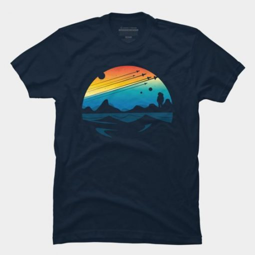 Scenic colorful space Tshirt FD4JL0